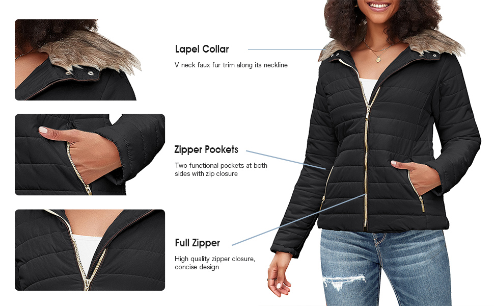 women Quilted Parka Coat