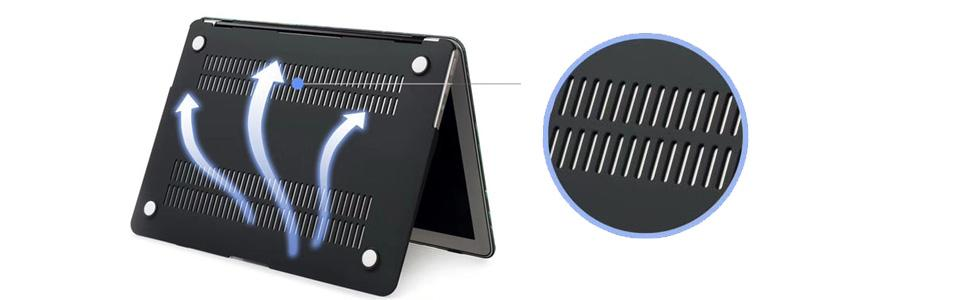 macbook case bottom cover - complete heat dissipation