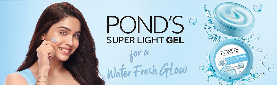 Pond's Super Light Gel Oil Free Moisturiser With Hyaluronic Acid + Vitamin E, 250 ml