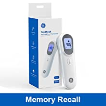 GE Contactless Thermometer Memory Recall