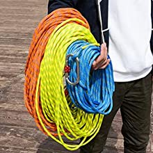 Multi-color and multi-size climbing rope