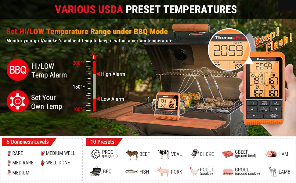 kitchen thermometer digital oven meat thermometer