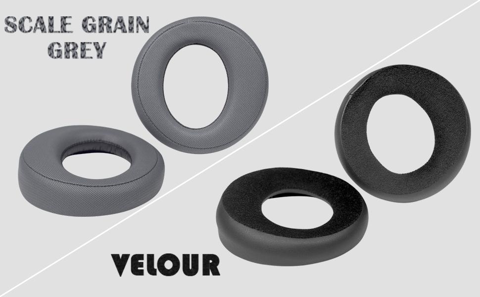 Grey earpads & Velour earpads
