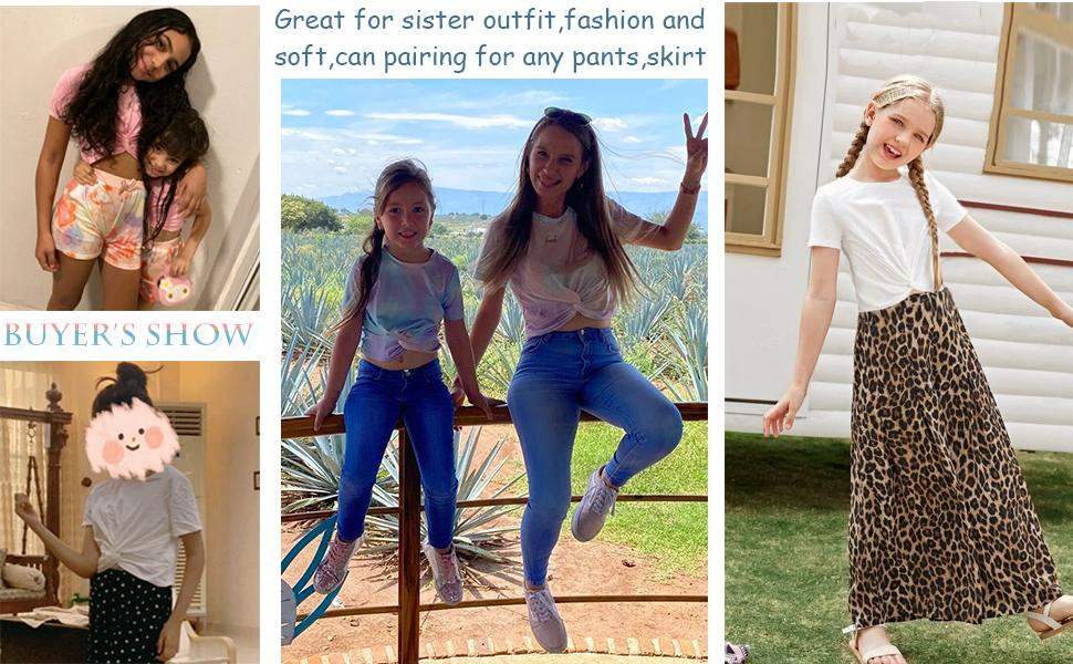 kids casual tees for girls