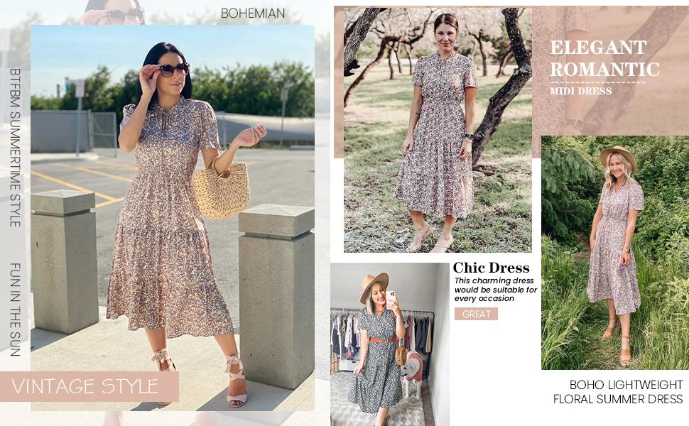 boho midi dress midi dresses for women maxi dress btfbm dress cocktail dress midi floral dress