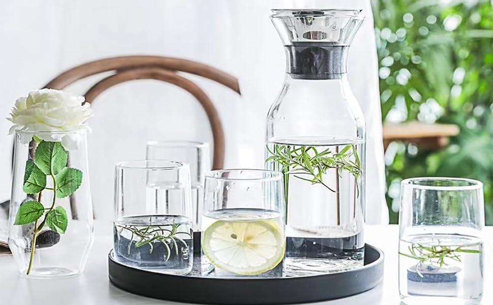 Glass Carafe Borosilicate Water Carafe Jug Beverage Pitcher