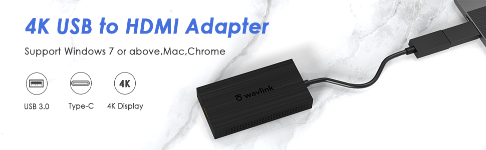 USB 3.0 to HDMI/DVI Video Graphic Adapter