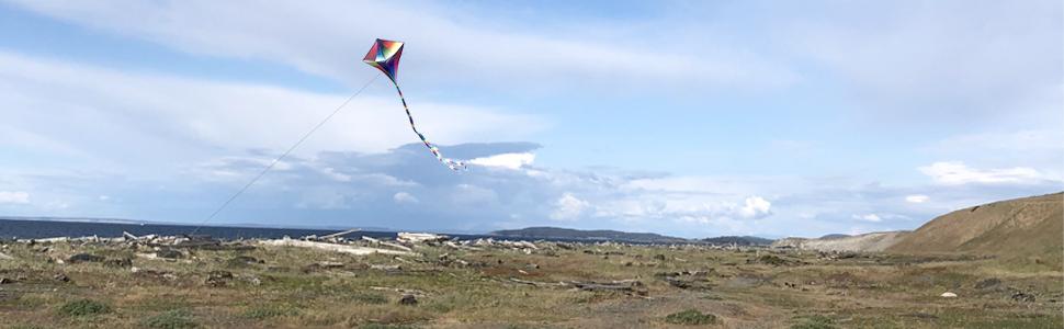 kite flying landscape