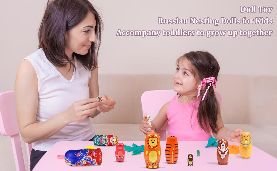 Russian Nesting Dolls for Kids Accompany