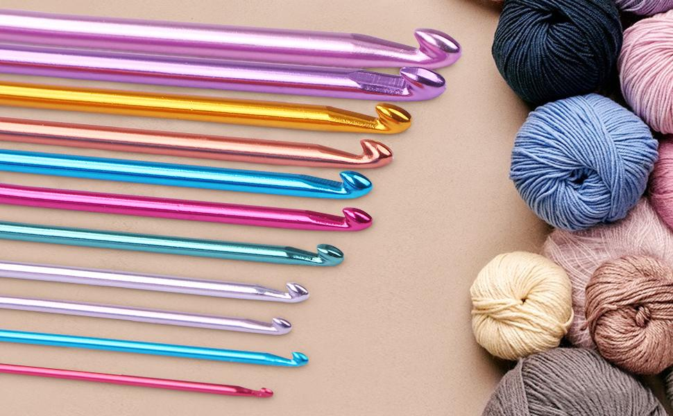 Crochets multicolores en aluminium