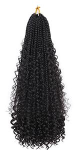 Goddess Box Braids Crochet Hair 1B