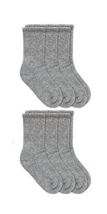 Jefferies Socks Boys Seamless Half Cushion Sport Crew Socks 6 Pair Pack