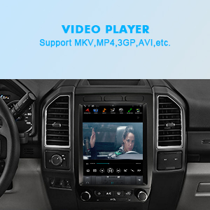 Ford F150 Vertical Screen Android PX6 4G+64G Multimedia Player in-Dash Kit Head Unit Play video