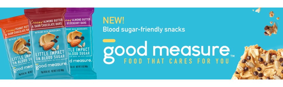 Good Measure Snack Bars High in Protein Low in Carbs Little impact on blood sugar