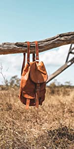 leather backpack bicycle bag