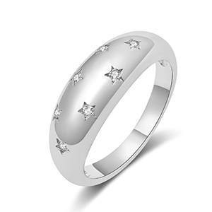 silver star dome rings