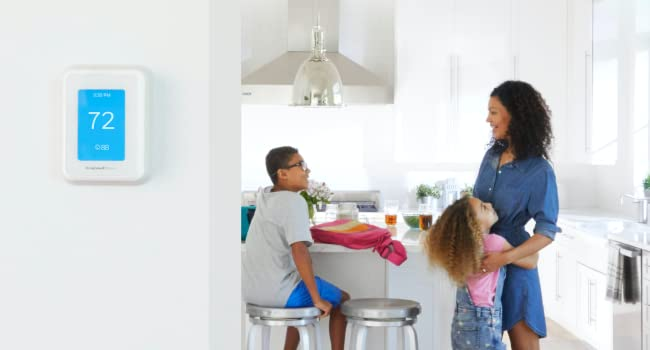 T9 Smart Thermostat cooling the house as mom comes home with the kids