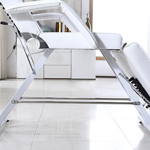 heavy-duty steel frame and double-rack