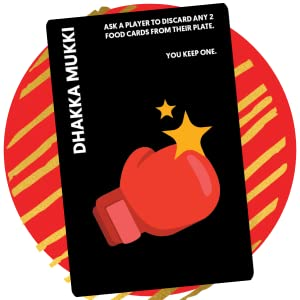 dhakka mukki card, chatpate card game, high quality game, gift ideas, food fight
