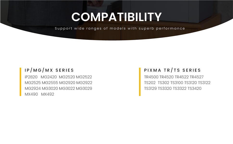 Compatible printers to use with these 245xl 246xl ink