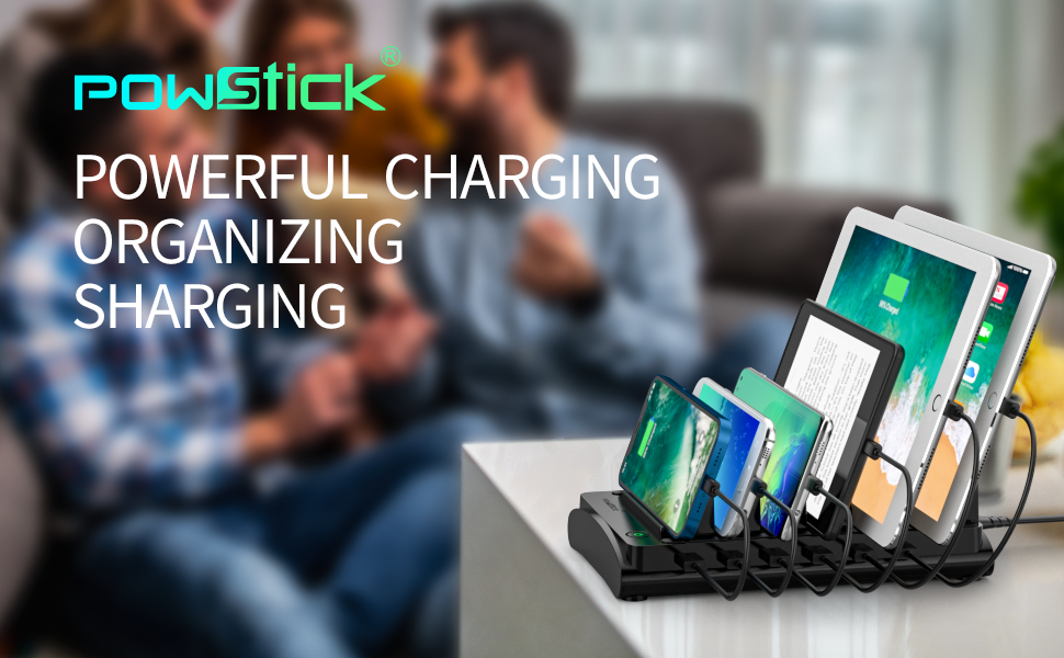 multiple usb charging dock station for home party