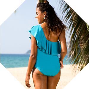 Women's One Shoulder Swimwear