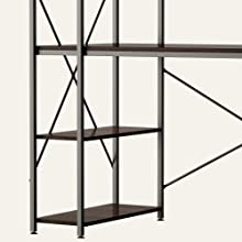 desk with storage shelves adjustable sturdy