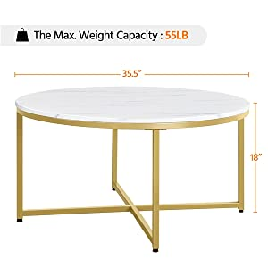 Specifications of Round Coffee Table