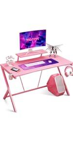 pink gaming desk