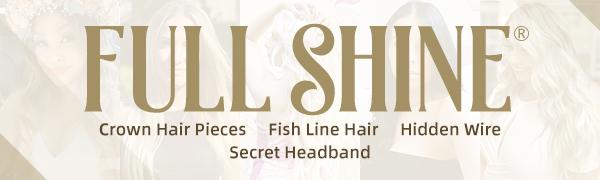 full shine crown hair pieces