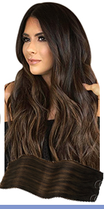 brown halo hair