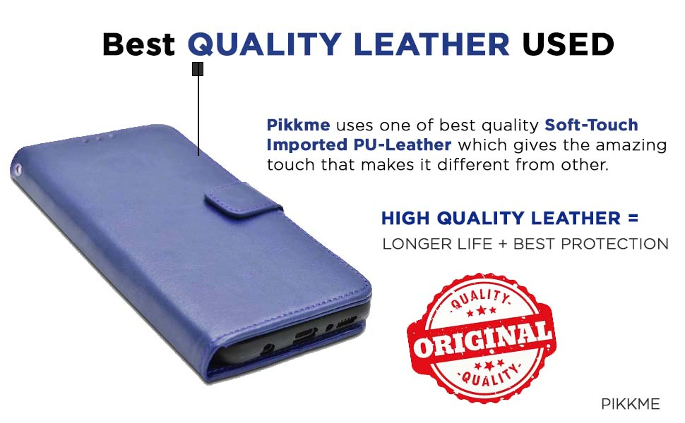 Pikkme Leather Flip Cover Case