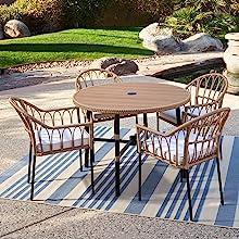 Wicker Furniture Outdoor Seating Set