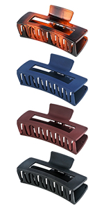 Square matte hair claw clips