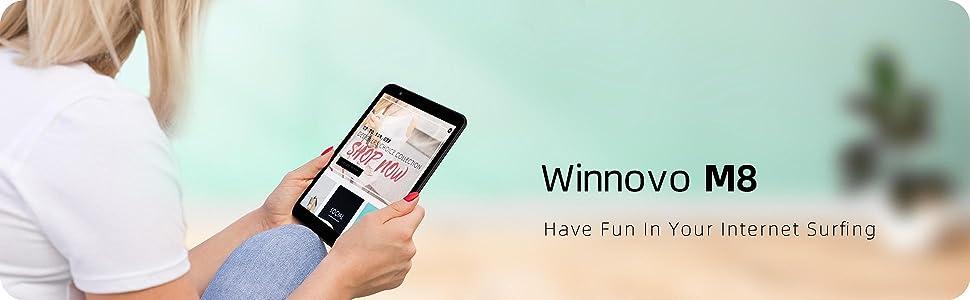 tablet computer  Tablet 8-Inch Android 10.0 – Winnovo M8 Quad Core Processor 32GB Storage HD IPS Display Gravity Sensor Bluetooth WiFi GPS FM (Black) d18190ab 388e 4f1c ba88 e8f4dc88a8ed