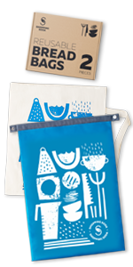 reusable bread bags rpet and cotton organic