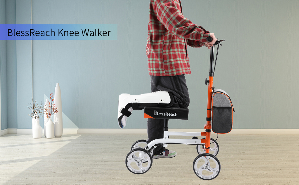 Knee walker that can replace crutches