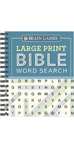 brain games large print bible word search puzzle cover