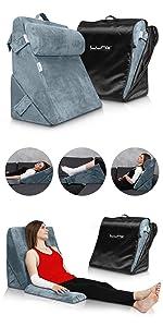 Lunix LX6 3pcs wedge pillow Set