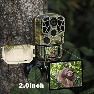 trail camera with 2.0'' LCD screen