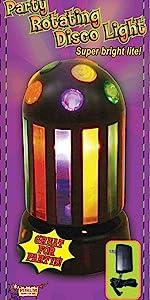 Rotating color disco light