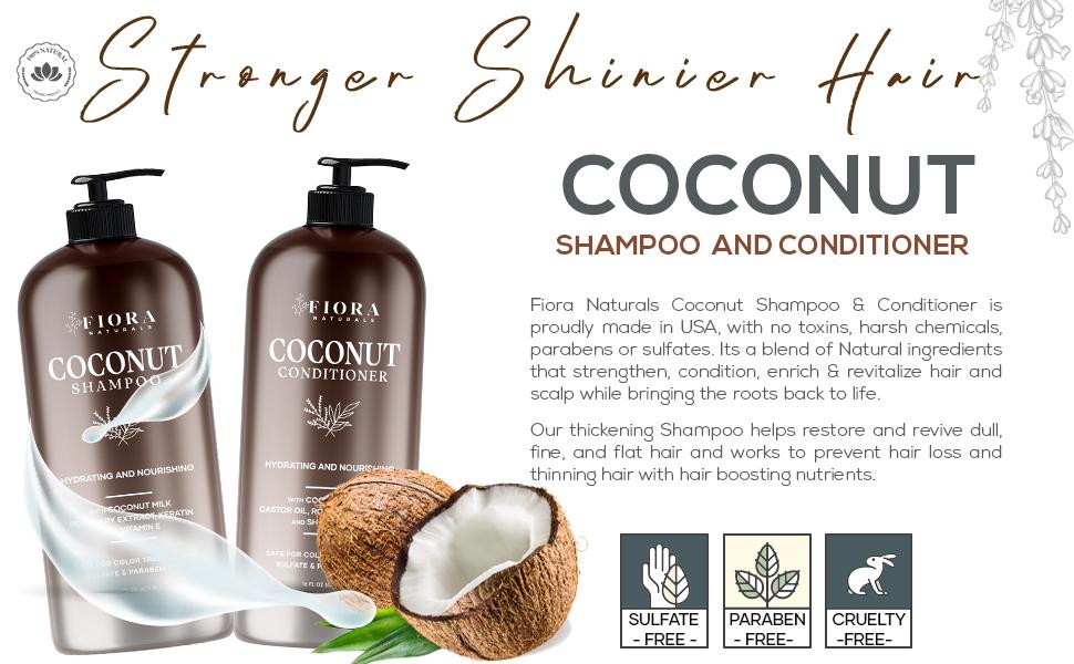 Coconut milk shampoo