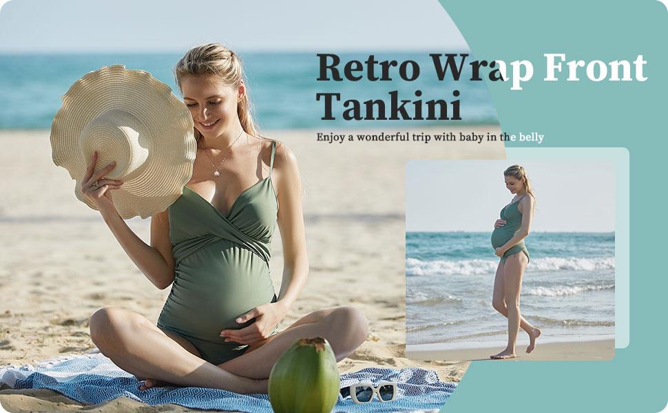 women maternity tankini