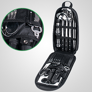 camping knife kit travel cooking utensil set family camping cookware set portable grill set