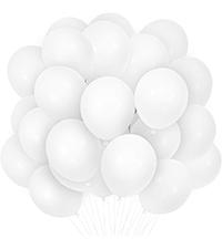 White Balloons 12 Inch