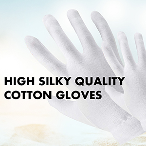 high silky quality cotton gloves