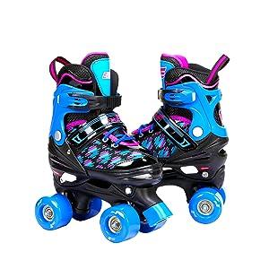 Blue Quad Skates for Kids