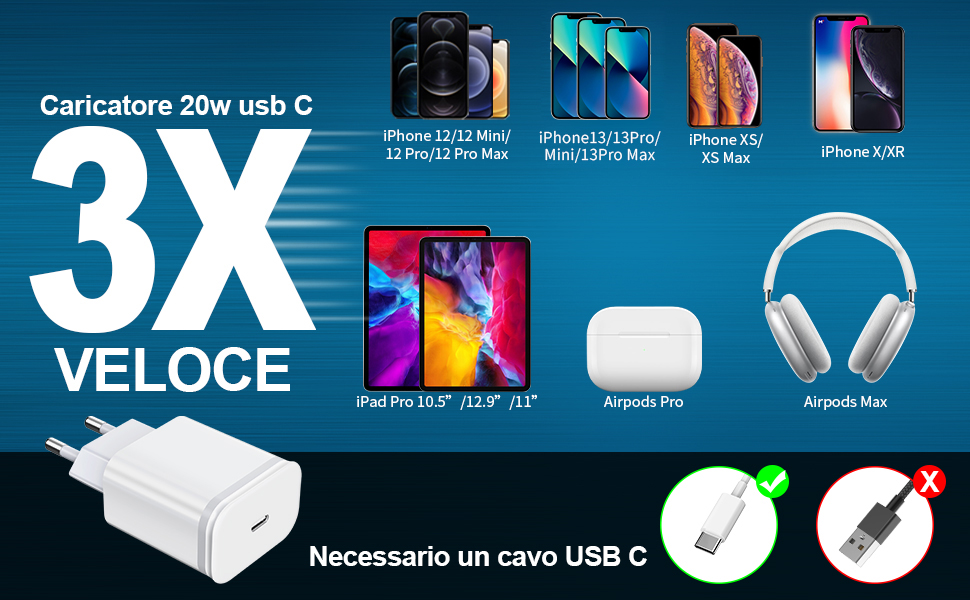 chargeur rapide 20w