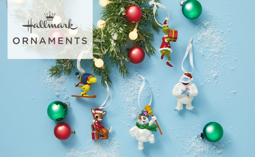Hallmark Ornaments Snoopy Grinch Frosty the Snowman Rudolph Yeti