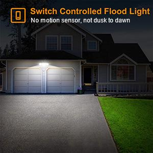 switch controlled flood light